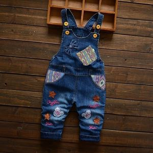 Picture of Baby Overall Embroider Design Ribbon Pocket Denim Blue