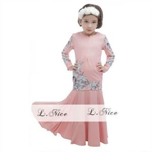 Picture of Muslimah Fashion Kurung Girl Set with Headband (Small)