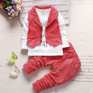Picture of Three-Pieces Stripe Vest Long Sleeve Tee and Pants