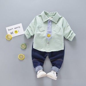 Picture of Emoji Smile Boy Longsleeve Shirt and Pant Two-Piece Set