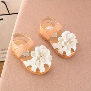 Picture of Temperament Big Flower Decor Sandals For Baby Girl