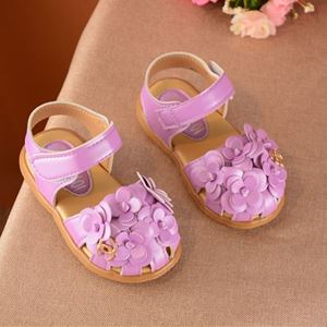 Picture of Temperament Blossom Decor Sandals For Baby Girl