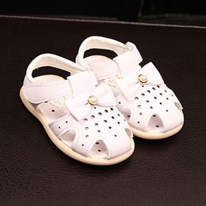 Picture of Pearl Ribbon Decor Soft Bottom Sandals For Baby Girl