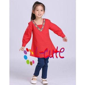 Picture of L-Cute Long Sleeve Blouse with Jeans Pants Set For Girl (2-7y)