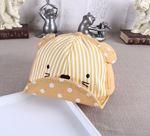 Picture of Bear Stripe Embroidery Cap Baby Kids Sun Hat