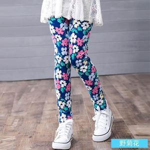 Picture of Koean Stylist Floral Printed Girl Leggings Pants