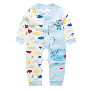 Picture of Adorable Little Kitten Fish For Baby Boy Romper
