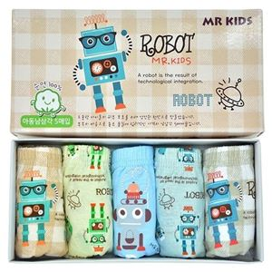 Picture of Korean Children Design Robot Cotton Panties Gift Box Set