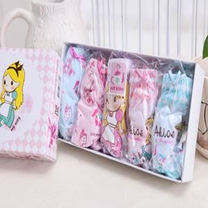 Picture of Korean Children Design Alice Cotton Panties Gift Box Set