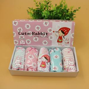 Picture of Korean Children Design Cute Rabbit Cotton Panties Gift Box Set