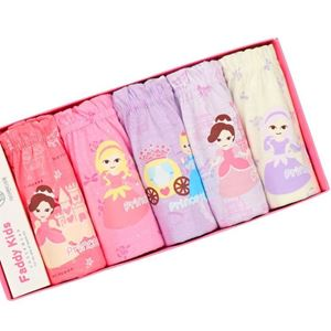 Picture of Korean Children Design Princess  Cotton Panties Gift Box Set