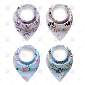 Picture of Boy Patterned Cotton Baby Bib (4 Pcs Per Pack)