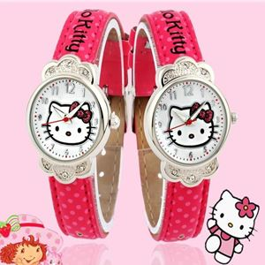 Picture of Hello Kitty Cartoon Dot Belt Watch for Girls