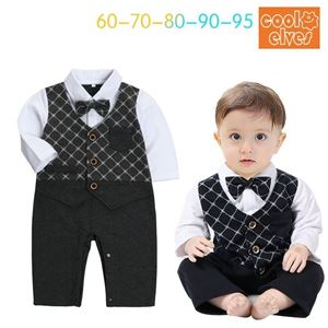 Picture of Gentleman Stylish Bow Baby Boy Suit Romper One-Piece Jumpsuit Clothes