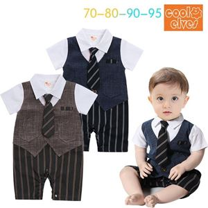 Picture of Gentleman Stylish Blue Necktie Baby Boy Suit Romper Jumpsuit Clothes