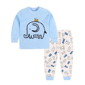 Picture of Elephant Pattern Top With Long Pant Pyjamas Set