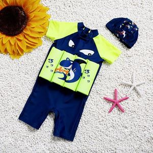 Picture of Baby Shark Short Sleeve Floting Swim Wear with Hat