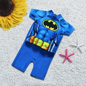 Picture of Cool Batman Short Sleeve Floting Swim Wear with Hat (2-7years)