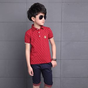 Picture of Dot Short Sleeve Shirt and Pant Two-Piece Set