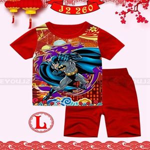 Picture of CNY Batman Short Sleeve Shirt and Pant Two-Piece Set(8-13y)