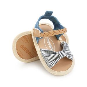 Picture of Sandals Baby Shoes Infant Denim Stripe Soft Sole Prewalker