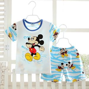Picture of Cute Mickey Printed Short Sleeve Casual Wear Clothing Set