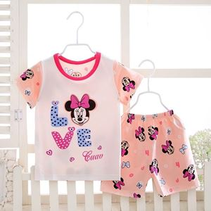 Picture of Minnie Printed Short Sleeve Casual Wear Clothing Set