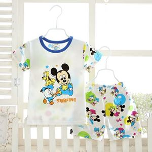 Picture of Mickey Printed Short Sleeve Casual Wear Clothing Set