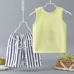 Picture of Cute Frog Sleeveless Garment and Shorts Pants Unisex Clothing Set