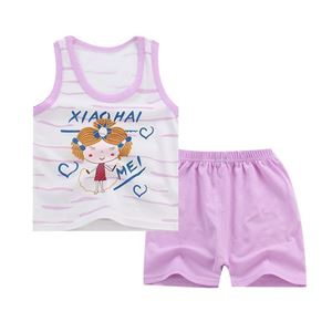 Picture of Two-Pieces Girl Sleeveless Garment and Shorts Pants Clothing Set
