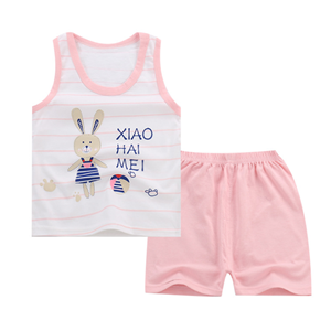 Picture of Two-Pieces Rabbit Sleeveless Garment and Shorts Pants Unisex Clothing Set