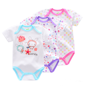Picture of 3-piece Cool Animal&Floral Printed Baby Romper Suit