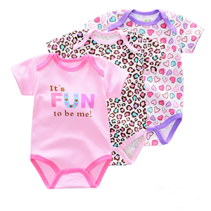 Picture of 3-piece Cool Animal Printed Baby Romper Suit