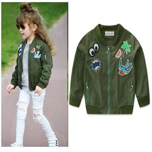 Picture of Kid's Cool Baseball  Army Green Short Jacket