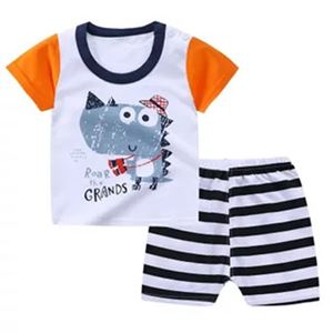 Picture of Dinosaur Printed Short Sleeve Casual Wear Clothing Set