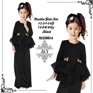 Picture of Elegant Fashion Modern Ribbon Black Lace Kurung Set (Big Size)