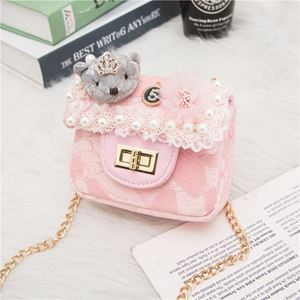 Picture of Fashion Adorable Princess Bear Little Sling Bag for Kids Girls