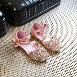 Picture of Fashionable Princess Shoes Sequin Bow Shoes For Kids
