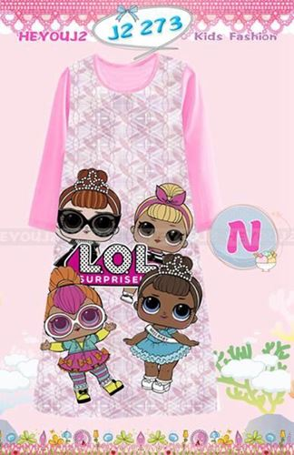 Picture of LOL Pattern Long Dress Sleepwear For Kids (8-13y)