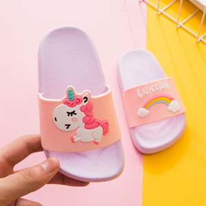 Picture of Lovely Unicorn Palm Jelly Sandal Shoes For Mummy&Kids