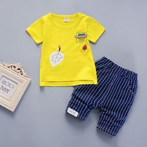Picture of Button Leaves Short Sleeve Shirt and Pant Two-Piece Set