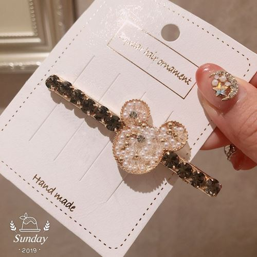 Picture of Korea Trendy Stylist Crystal Mickey Hair Clip Accessories