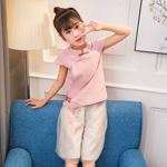 Picture of Chinese Style Cheongsam Shirt & Pants Clothing Set
