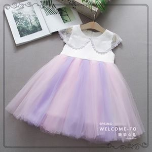Picture of Graceful Rainbow Flower Sleeveless Princess Dress